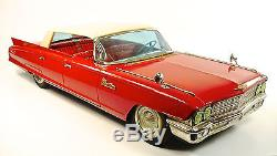 1962 Cadillac DeVille 20 4-Door Hardtop Japanese Tin Car by Ichiko NR