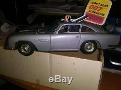 1965 Gilbert DB5 James Bond Aston-Martin Japanese tin car with box and card