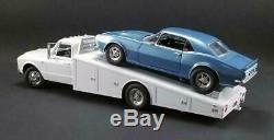 1967 Chevy C-30 Ramp Truck Race Car Hauler Acme Diecast 118 White Gmp Vintage