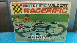 1967 Ideal Motorific Racerific WildCat Set With Triumph Car New In Box MIB NOS P
