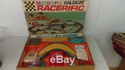 1967 Ideal Motorific Wildcat Racerific Set With Barracuda Car MIB NOS Never Used