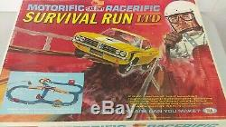 1969 Ideal Motorific Racerific Survival Run Set Triumph Car MIB NOS Never Used