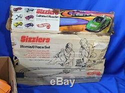 1969 Mattel Hot Wheels Sizzlers California 8 Race Set Track Box VTG Toy Cars