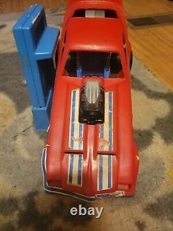 1976 IDEAL TOYS EVEL KNIEVEL GYRO POWERED FUNNY CAR WORKING Chassis with Winder