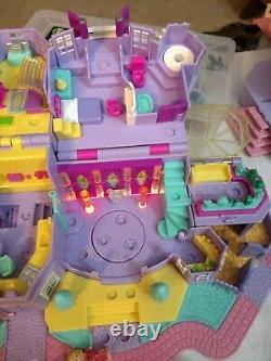 1994 Vintage Polly Pocket Light-up Magical Mansion Bluebird Toys Dolls Car Horse