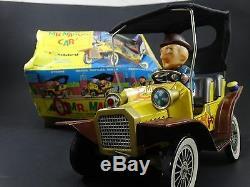 2 Vintage 1961 Hubley Mr Magoo Japan Tin Litho Battery Friction Car Toy Box Lot