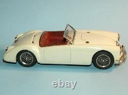2nd vintage 9 3/4 tin plate Friction Motor ASAHI JAPAN 1961 MGA 1600 Sports Car