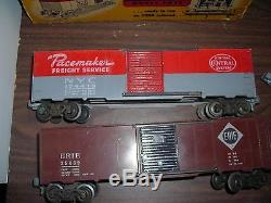 5 Vintage American Model Toys Inc. O scale Train Cars With Boxes