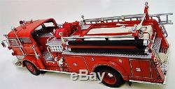A 1950s Vintage Fire Engine Truck 1 T Metal Model 24 Antique Red Pickup Car 18