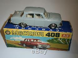 A+ MINT VINTAGE TOY CAR DIECAST MOSKVICH MOSKVITCH 71 A1 408 USSR /w BOX M1/43