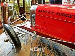 A Red Bantam Midget Vintage Racing Car, Tether Racer, Authentic Models, Stunning
