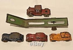 AC Williams Austin Car Carrier Transporter Truck Original Hubley Kenton Arcade
