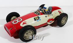 Alps Speed Challenger Indy Race Car Battery Op. Vtg Tin Japan, Yonezawa, Nomura