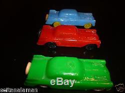 AMAZING VINTAGE EXTRA RARE GREEK HARD PLASTIC FUTURISTIC CARS PENNY TOYS 60s