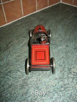 ANTIQUE HESSMOBIL 1020 TOURING CAR GERMANY TIN WIND UP c. 1920 TINPLATE TOY hess
