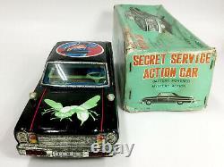 ASC Aoshin Green Hornet tin Battery Operated Secret Service Action car Japanese