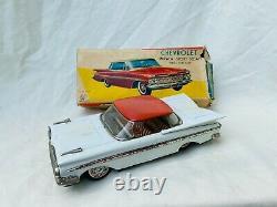 ATC Chevrolet Impala Sport Sedan Car Tin Toy Friction Japan Boxed