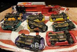 Afx / Model Motoring Slot Car Lot (9 Cars) Vintage Slot Cars