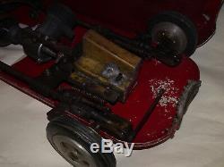 Alfa Romeo 24 Tether Car 1950's taly Vintage Engine Toy Tin Metal Aluminium