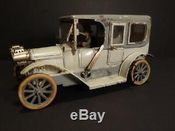 All Original Carette Handpainted Tin Car 11 With Original Driver Germany 1910