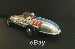 All Original SKK Silver Jet Racing Car Racer 10 Tin Toy Mint + Box Japan 1960