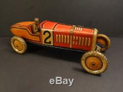 All Original TIPPCO #2 Racing Car 131/2 Tin Toy 1925 Germany