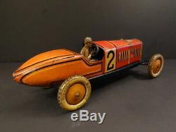 All Original TIPPCO #2 Racing Car 131/2 Tin Toy 1925 Germany