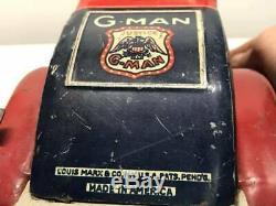 Antique 1930s Marx G-Man Pursuit Car. Rare Good Condition