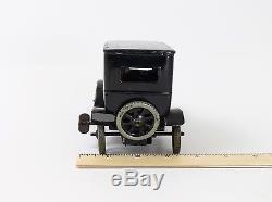 Antique Bing 1920s Black Model T Ford 4 Door Sedan Tin Windup Car