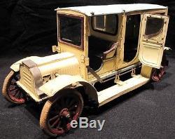 Antique Carette Clockwork Limousine German Tin Toy Car-circa 1910-Parts