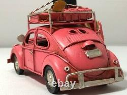 Antique Carwagen Pink Vintage Car Classic Cars Tin Objects Toys American Hawaii