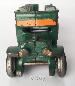 Antique Cast Iron Double Decker Bus Car with Original Paint