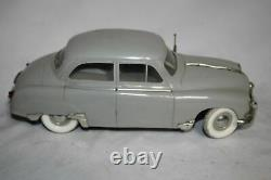 Antique France Rare GEGE SIMCA ARONDE CAR B/O LIGHTS Wind Up Tin Litho Toy