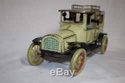 Antique Germant HANS EBERL LIMOUSINE TAXI CAR Tin Wind Up Toy Exquisite