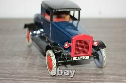 Antique Germany Tin Litho Wind Up Toy FISCHER COUPE CAR