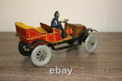 Antique Germany Tin Litho Wind Up Toy FISCHER ROADSTER CAR