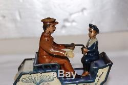 Antique LEHMANN NAUGHTY BOY VIS-A-VIS Clockwork Germany Tin Toy Litho Car