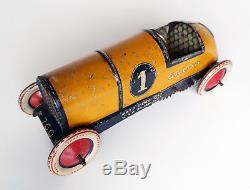 Antique Lehmann GALOP Race Car EPL 760 Germany 1920s Tin Toy clockwork tinplate