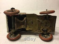 Antique Lehmann Tut Tut Tin Litho Clockwork Car Lot Very Rare