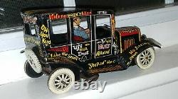 Antique Marx 1930's Tin Lithographed Wind-up Jalopy Car Working/beautiful USA