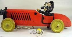 Antique Nifty Speedy Felix The Cat In Car Wooden Pull Toy Borgfeldt & Co. N. Y