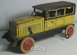 Antique Original Johann Distler Large German Limousine 1602 Tin Toy Car JDN Rare