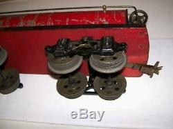 Antique Prewar Voltamp 2 Gauge No. 2113 Red B&O Tank Car