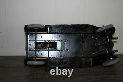 Antique Rare JEP RENAULT COUPE CAR Wind Up Tin Litho Toy