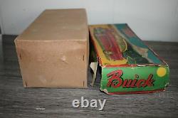 Antique Rare Japan Friction Tin Litho Toy HTC Buick Car in Original Box