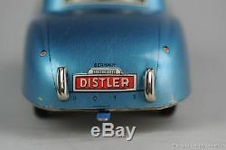 #Antique Tin Toy# DIstler Battery Jaguar Western Germany Sports Car Lithography
