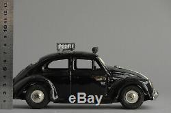 #Antique Tin Toy# Japanese Bandai Volkswagen VW Beetle Police Car Japan Rare