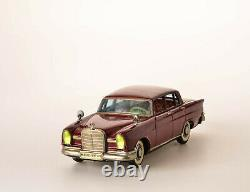 #Antique Tin Toy# Rare Japanese Ichiko Mercedes Benz 220 Sedan Passenger Car