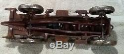 Antique Vintage Style Cast Iron Toy Race Car w Moving Pistons Hubley
