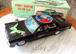 Aoshin Japan Battery 60s Green Hornet Secret Service Galaxie 500 Tinplate car